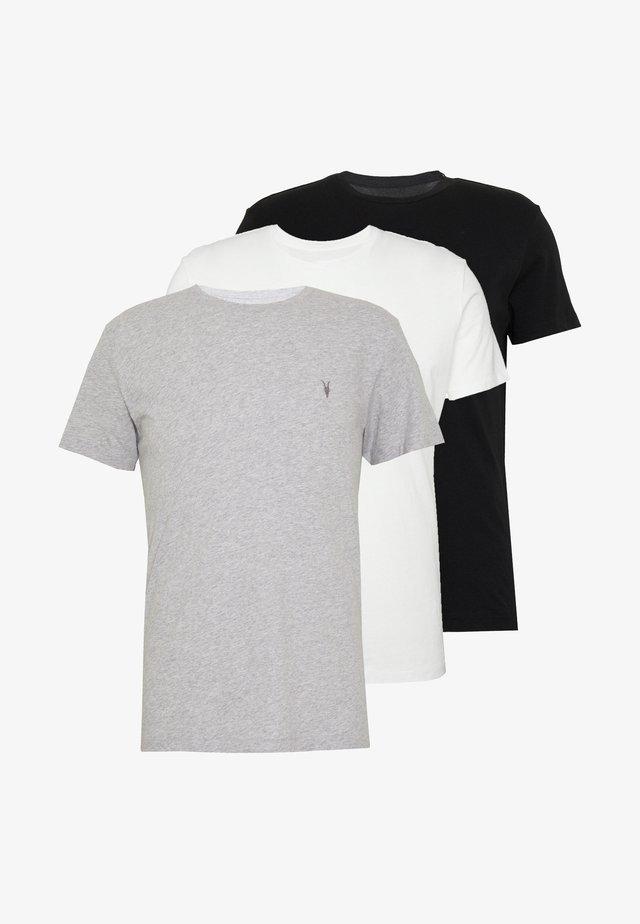 TONIC CREW 3 PACK - T-shirt basic - optic/black/grey