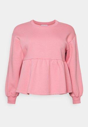 PEPLUM  - Sweatshirt - pink