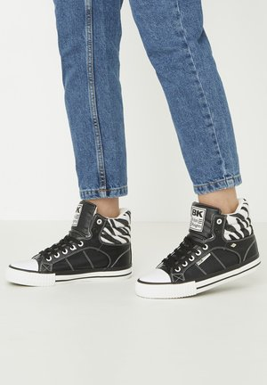 SNEAKER ATOLL - High-top trainers - black/zebra