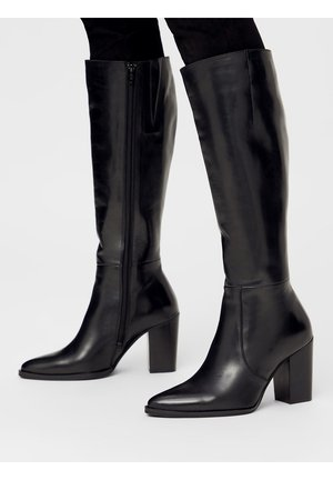 BIAJUDIA LONG BOOT - Laarzen met hoge hak - black