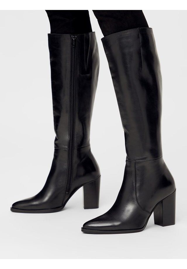 BIAJUDIA LONG BOOT - High heeled boots - black