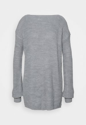 BACK JUMPER - Sweter - silver