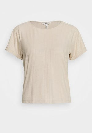 OBJCELIA - T-shirt z nadrukiem - sandshell