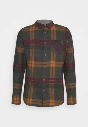 WARLOCK - Shirt - light grey/rust/black/oxblood