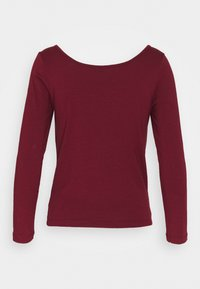 Vero Moda - VMPANDA SWEETHEART - Long sleeved top - cabernet - 1