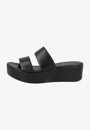 Platform sandals - black santiago