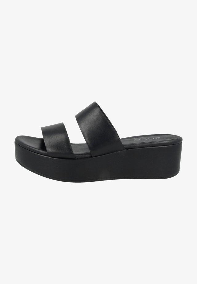 Sandalen met plateauzool - black santiago
