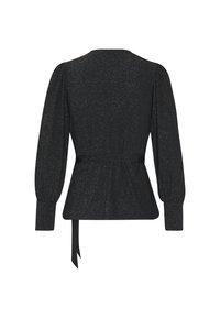 Vero Moda Petite - VMJELINA WRAP  - Long sleeved top - black - 1
