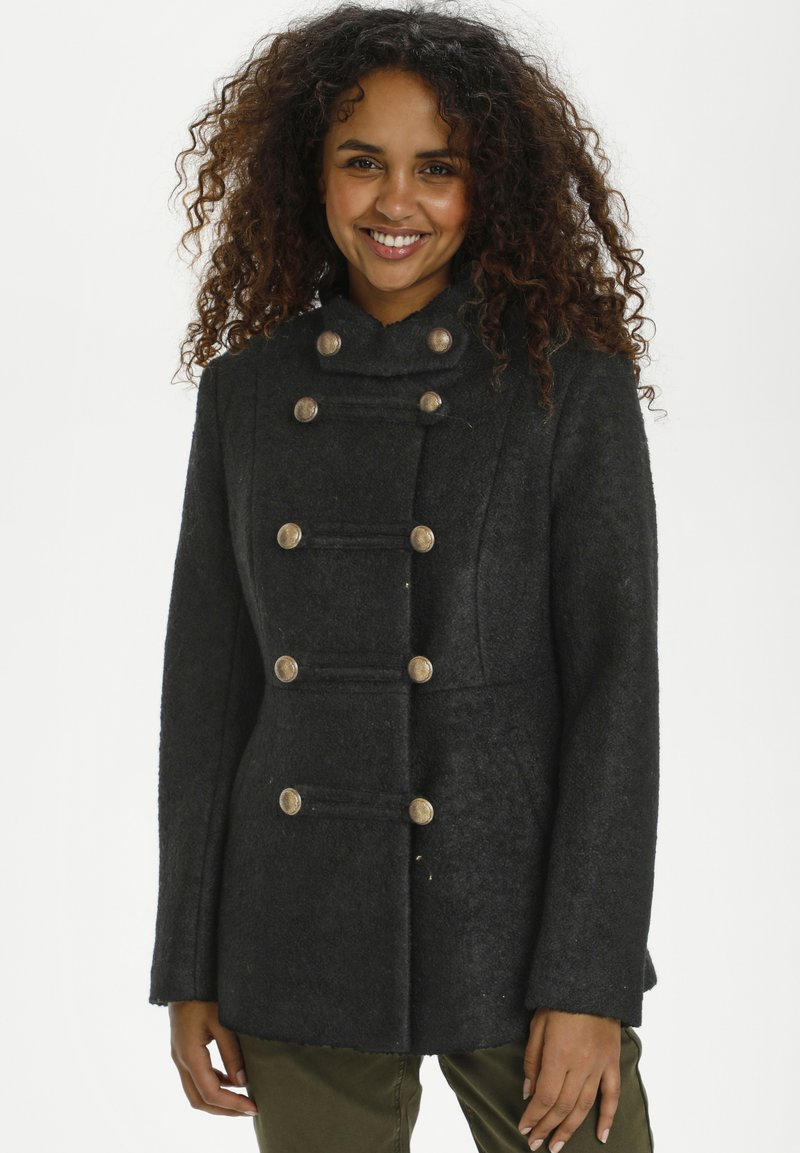 Cream - ANNABELL  - Short coat - pitch black
