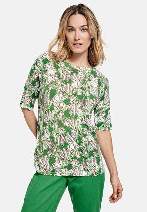 MIT FLOWERDESSIN - Print T-shirt - palm white azalea druck