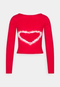 BDG Urban Outfitters - SCOOP HEART TIE DYE - Long sleeved top - red - 1