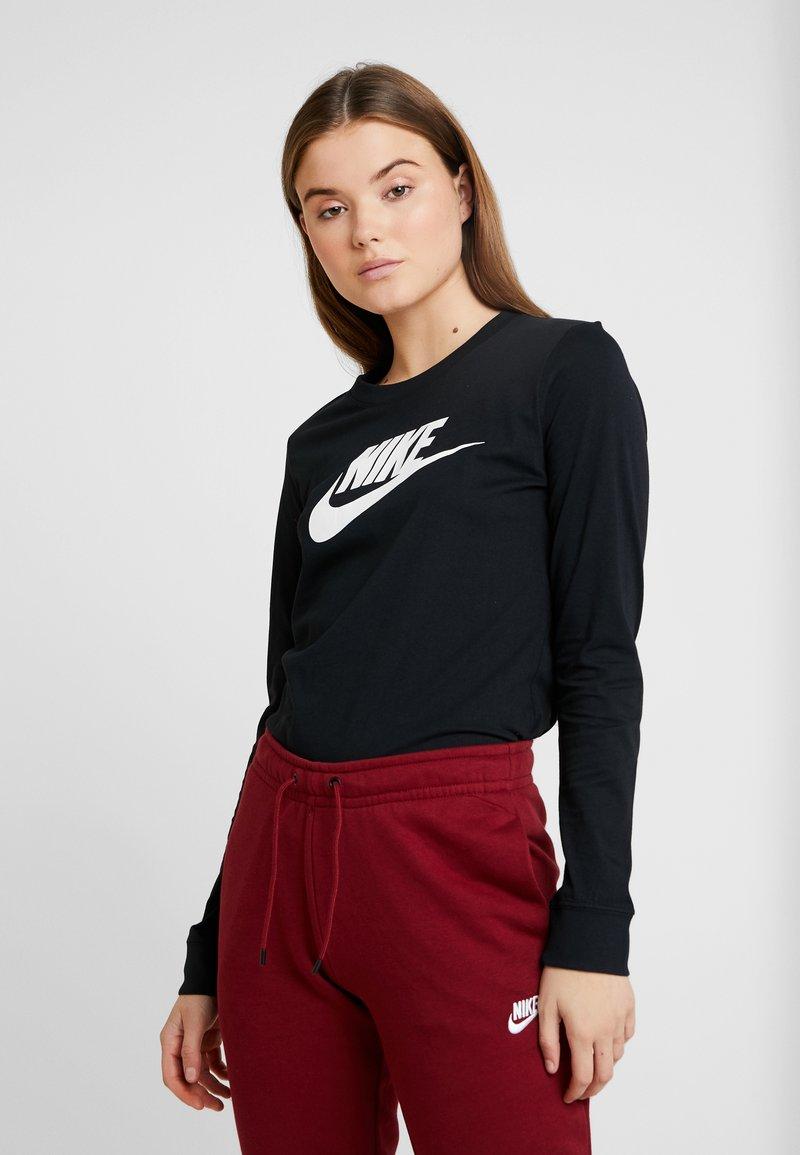 Nike Sportswear - TEE ICON - Long sleeved top - black/white