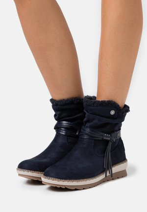 Wedge Ankle Boots - navy