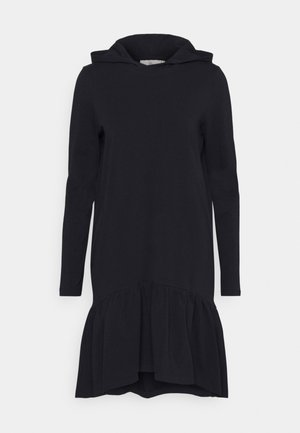 DANA LINDA HOODIE DRESS - Jersey dress - midnight marine