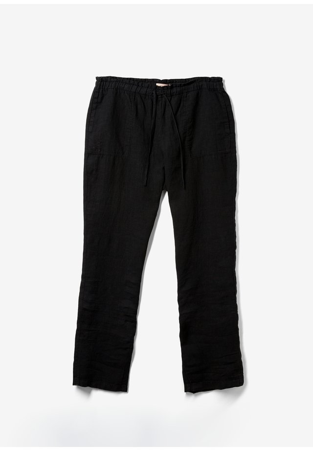 RELAXED FIT - Trousers - black