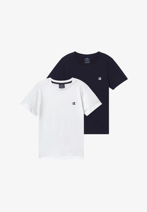 LEGACY BASICS CREW-NECK UNISEX 2 PACK  - T-shirts - white/dark blue