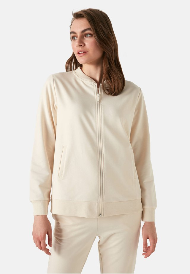 Sweater met rits - ecru