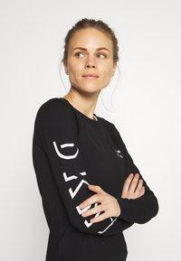 DKNY - LONG SLEEVE CREW NECK DRESS - Jersey dress - black - 3