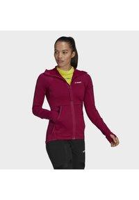 adidas Performance - Zip-up hoodie - burgundy - 4