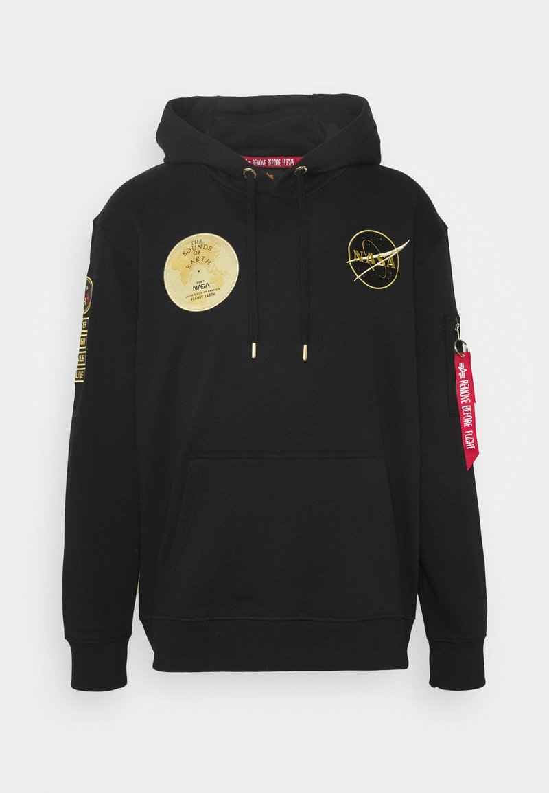 Alpha Industries - NASA VOYAGER HOODY - Sweatshirt - black