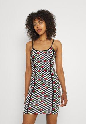 CHERRY CHECKERBOARD DRESS - Day dress - multi