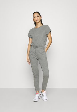 Short sleeves Sweat loung jumpsuit - Jumpsuit - mottled grey