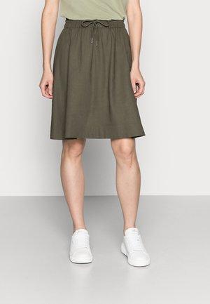 BRIZAIW QUIANA SHAPE SKIRT - A-line skirt - beetle green