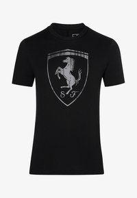 Puma - FERRARI HERREN BIG SHIELD  - T-shirt med print - black - 3