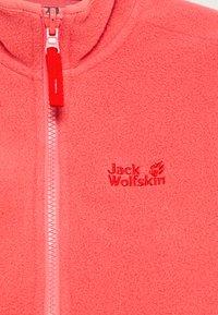 Jack Wolfskin - BAKSMALLA JACKET KIDS - Fleece jacket - coral pink - 3