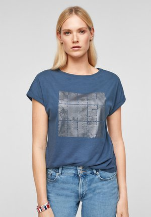 MIT FOLIENPRINT - Print T-shirt - dark blue