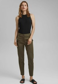 Esprit Collection - Trousers - dark khaki - 4