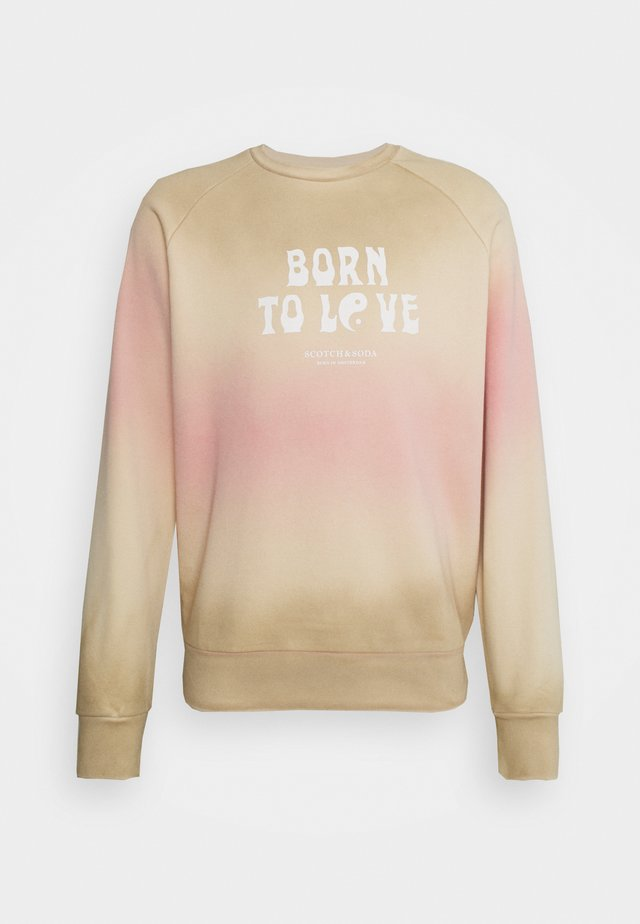 BORN TO LOVE CREW NECK UNISEX  - Sweatshirt - combo