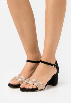 LEATHER COMFORT - Sandalias - black