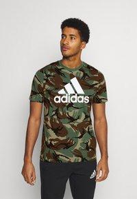 adidas Performance - CAMO - T-shirts print - khaki - 0