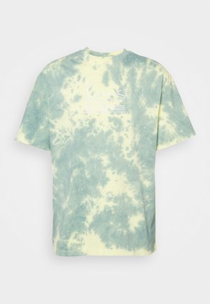SIGNATURE TIE DYE TEE UNISEX  - T-shirt imprimé - light yellow