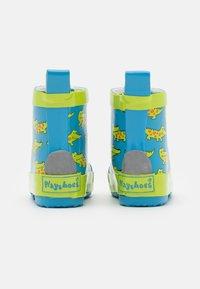 Playshoes - HALBSCHAFT KROKODIL UNISEX - Wellies - blau - 2