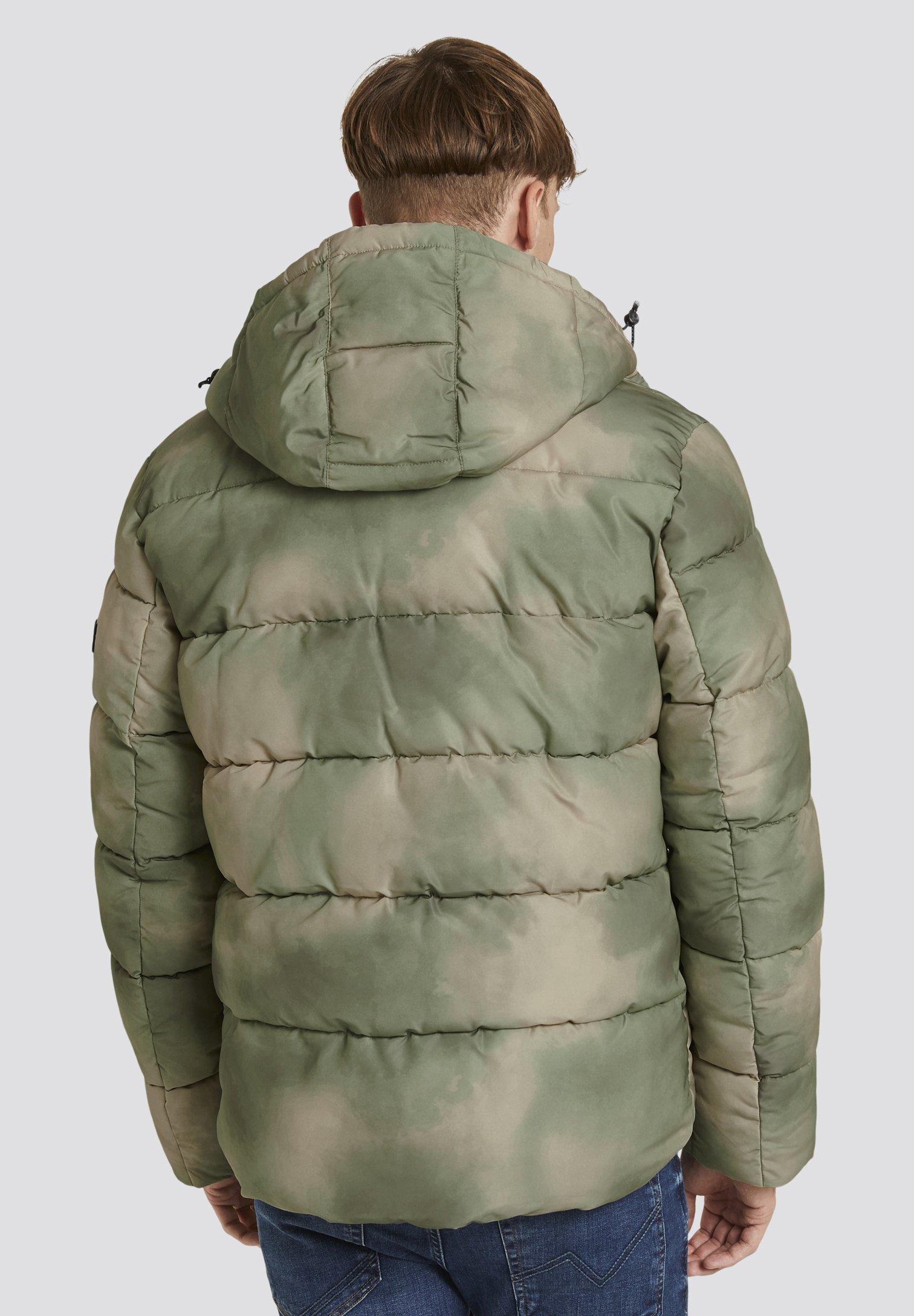 Tom Tailor Denim Winterjacke - Green Blurry Print