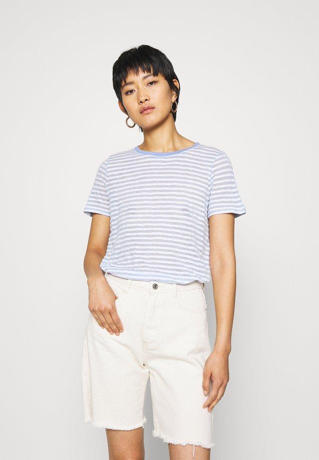 Print T-shirt - blue/offwhite