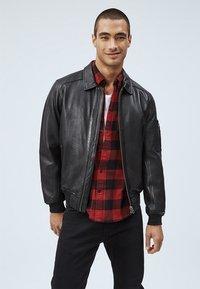 Pepe Jeans - MOORE - Leather jacket - black - 0
