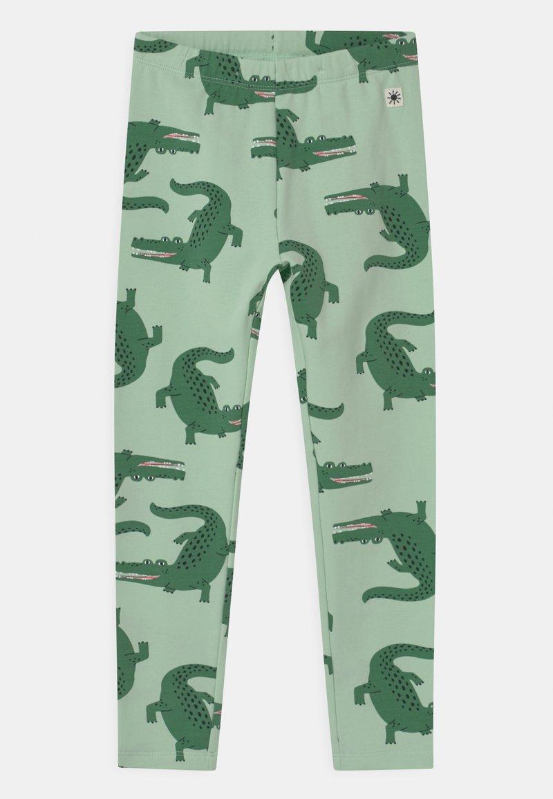 Lindex - MINI CROCO UNISEX - Leggings - Trousers - light green
