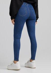 Bershka - SUPER HIGH WAIST - Slim fit jeans - dark blue - 2