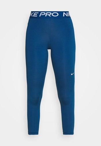 CROP - Leggings - court blue/white