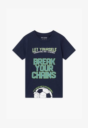 SMALL BOYS FOOTBALL - T-shirt z nadrukiem - dunkelblau
