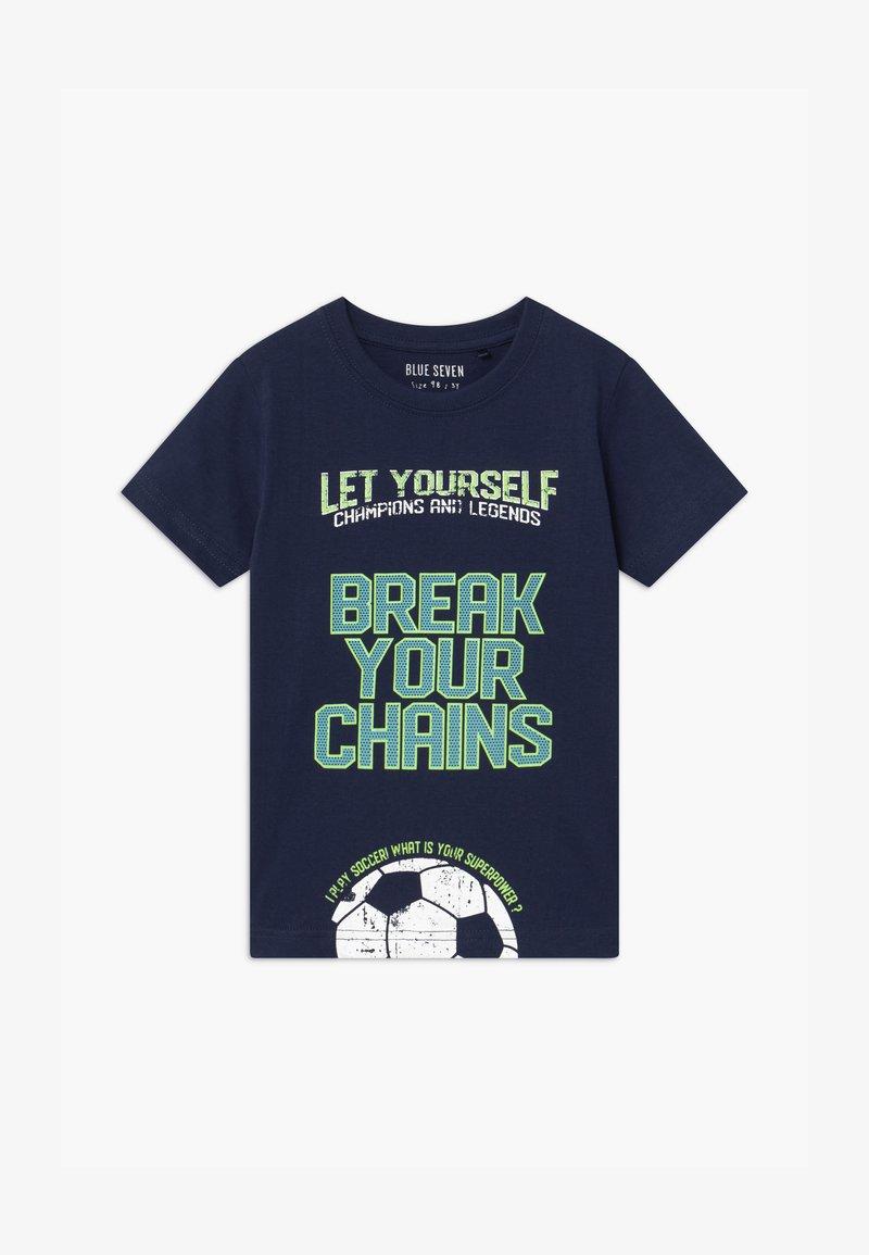 Blue Seven - SMALL BOYS FOOTBALL - Print T-shirt - dunkelblau
