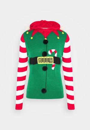 JINGLES - Sweter - bottle green/red/white