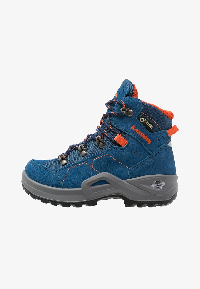 KODY III GTX - Hiking shoes - blau/orange