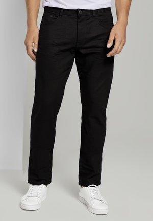 Straight leg jeans - clean raw black denim