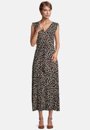 Jersey dress - black/camel