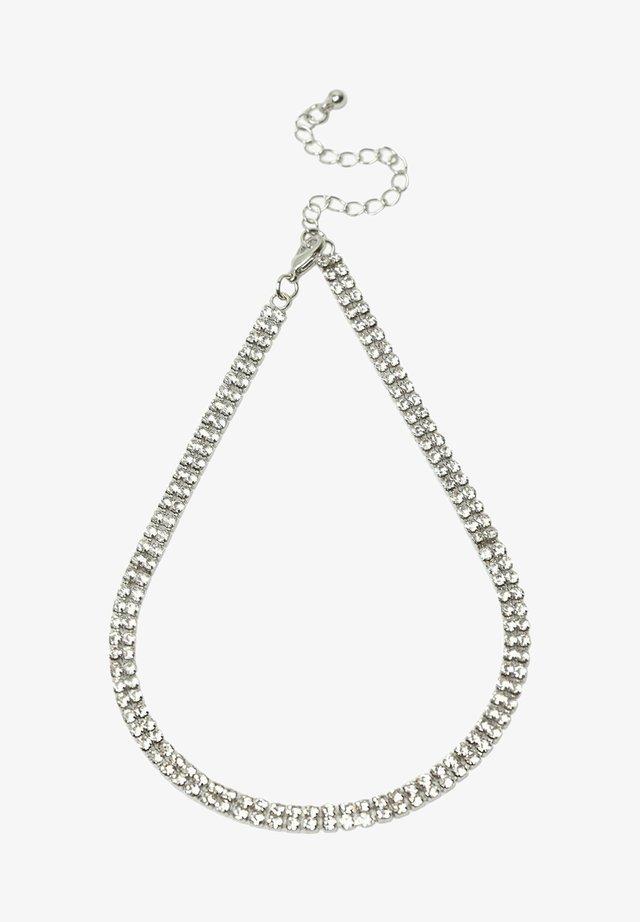 SILVER CRYSTAL NECKLACE - Necklace - silver
