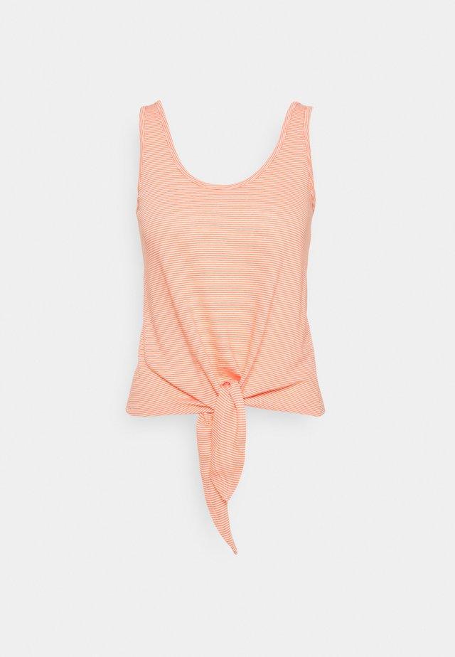 KNOT SINGLET BABYLON STRIPE - Toppi - peach pink